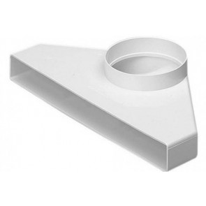 Polypipe 2013 Domus, Rigid Duct, 234x29-Ø100mm, Plenum, Fixed Spigot (Air Valve Adapter), White