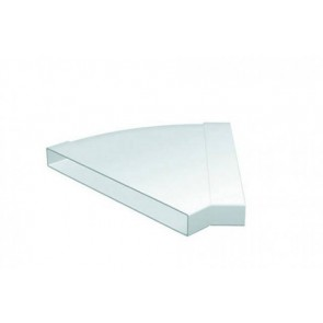 Polypipe 3008 Domus, PV Low Profile 300, Rigid Duct, 308x29mm, 45º, Horizontal Bend, White
