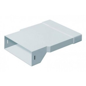 Polypipe 3016 Domus, PV Low Profile 300, Rigid Duct, 204x60-308x29mm, In-Line Adapter, Rectangular-Rectangular, White