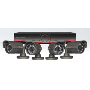 Digiview HDV4KB - 4 Channel True HD CCTV System, Bullet Cameras