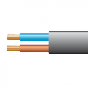 0.5mm² 2192Y 2 Core Flexible PVC cable, Black