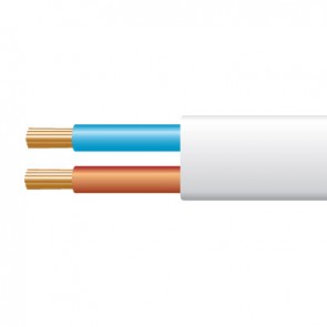 0.5mm² 2192Y 2 Core Flexible PVC cable, White