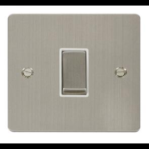 Scolmore Define FPSS425WH Ingot 1 Gang 10A Intermediate Plate Switch White Insert