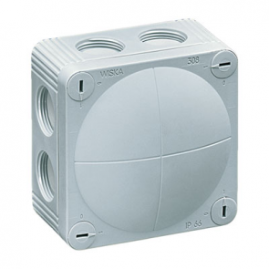 Wiska 10060401 Combi 308/5 Junction Box Inc. 5 Pole, IP67, 32A Grey Polypropylene