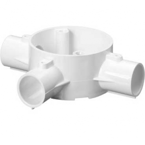 Mita 25CJB5W Tee 3 Way Circular Box for Rigid Conduit 25mm White