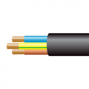 0.75mm² 3183Y 3 Core Flexible PVC cable, Black