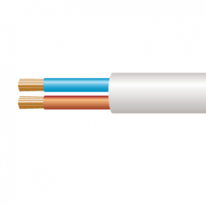 0.5mm² 2182Y 2 Core Flexible PVC cable, White