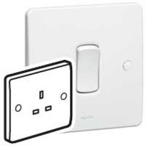 Legrand Synergy 730065 Socket 1G Unswitched 13A 250V White