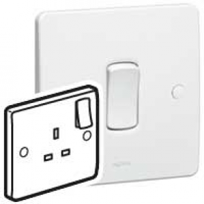 Legrand Synergy 730066 Socket 1G Switched 13A 250V White