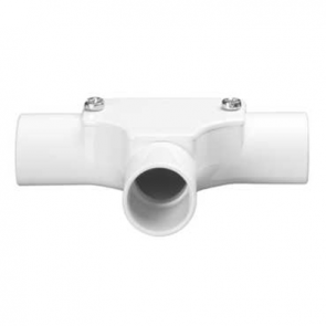 Mita PIT20W Inspection Tee for Rigid Conduit 20mm White