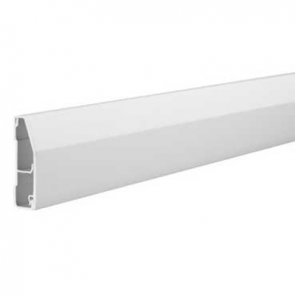 Mita SK82W 2 Compartment Skirting Trunking 3m x 80mm x 22mm White