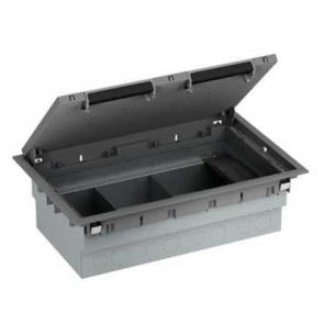 Mita INS53100 3 Compartment Floor Box, 100mm x 222mm x 348mm Grey