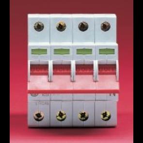 Wylex WS104 100A Four pole Type B 4 Module Isolator