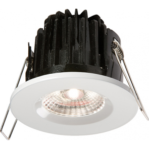 ML Accessories VFRCOBCW LED Fire Rated Downlight 4000K Cool White IP65 7W comes with Dimmable Driver and White Bezel