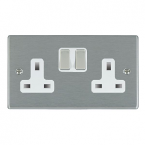 Hamilton Hartland 74SS2SS-W 2G Switched Socket 13A White Insert
