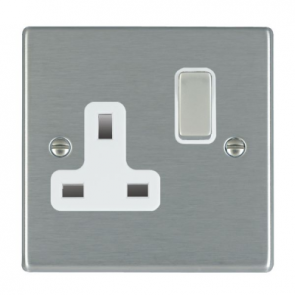 Hamilton Hartland 74SS1SS-W 1G Switched Socket 13A White Insert