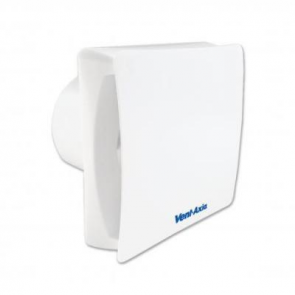 Vent-Axia 446659 Fan, Silent Axial Bathroom/Toilet, c/w Backdraught Shutter & Timer