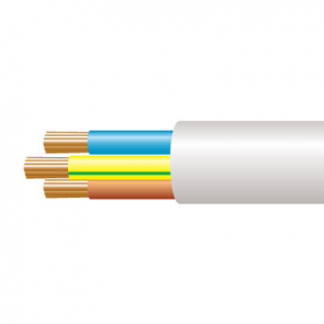 0.75mm² 3183Y 3 Core Flexible PVC cable, White