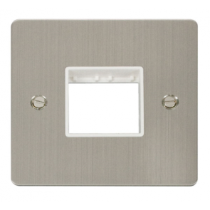 Scolmore Define FPSS402WH 1 Gang 2 Aperture Frontplate White Insert