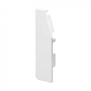 Mita SKL82W LH End Cap for Skirting Trunking White
