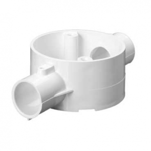 Mita 20CJB3W Through 2 Way Circular Box for Rigid Conduit 20mm White