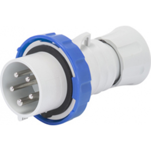 Gewiss GW60037H Straight Plug HP - IP66/IP67/IP68/IP69, 2P+E, 32A, 230V, 50/60HZ, 6H Screw Wiring