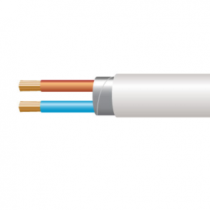 1.0mm² 3182Y 2 Core Flexible PVC cable, White