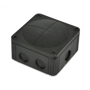 Wiska 10060580 Combi 308/5 Junction Box Inc. 5 Pole, IP67, 32A Black Polypropylene