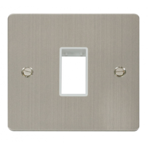 Scolmore Define FPSS401WH 1 Gang 1 Aperture Frontplate White Insert