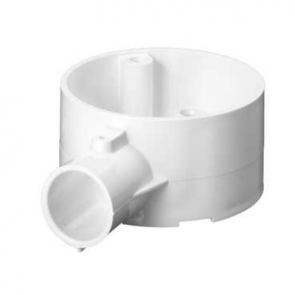 Mita 20CJB2W Terminal 1 Way Circular Box for Rigid Conduit 20mm White