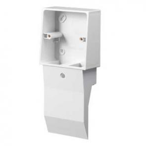 Mita SKB21W 1 Gang External Mounting Box for Skirting Trunking White