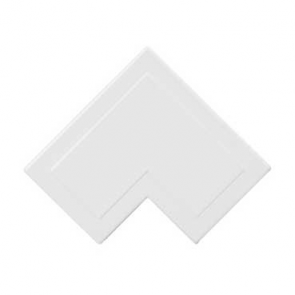 Mita MFA5W 38x38mm Flat Angle for Mini Trunking, White