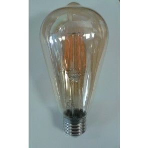 Crompton 4252 7.5W ES-E27 LED Filament ST64 Dimmable Antique Bronze Lamp
