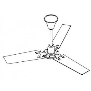 Vent-Axia 428050 1200mm Fan, HL120 Ceiling c/w Downrods &, Fittings Hi-Line Plus Ceiling Sweep Fans