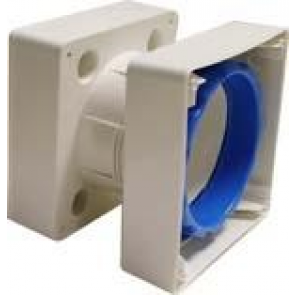 Vent-Axia 442947 Window Kit, for 100mm Fans, For Glass Thickness Up to 40mm