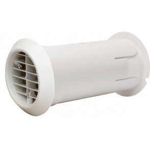 Vent-Axia 474779 INTERNAL FIT WALL KIT, White with Backdraught Shutter