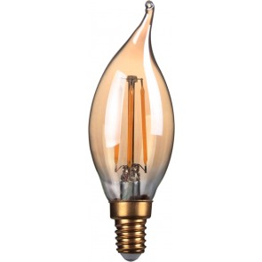 4W LED Filament Candle, Bent-tip, E14,Gold finish, 20000hrs, 2700K