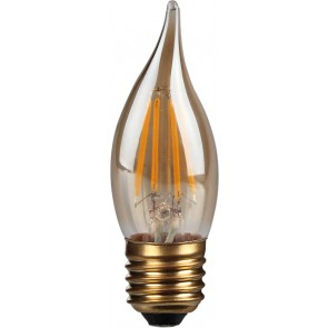4W LED Filament Candle, Bent-tip, E27,Gold finish, 20000hrs, 2700K