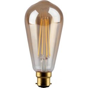 4W LED Filament, ST64, B22, Gold finish, 20000hrs, 2700K