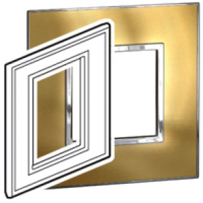 "BTICINO / LEGRAND 576480, Surround plates for 2·5"" multimedia display screens, GOLD BRASS"