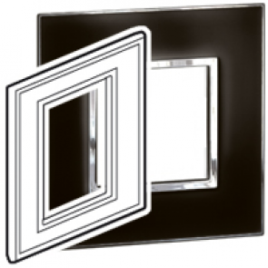 "BTICINO / LEGRAND 576483, Surround plates for 2·5"" multimedia display screens, MIRROR BLACK"