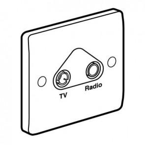 Legrand Synergy 730042 Socket TV/FM Single 86 x 86 mm White