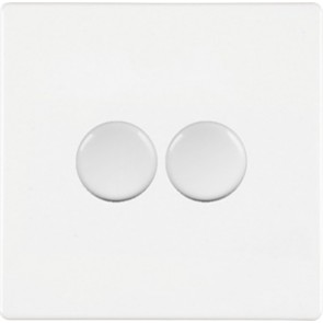 Hamilton 7WC2X100LEDWH 100W Dimmer Switch, 2 Gang LED White