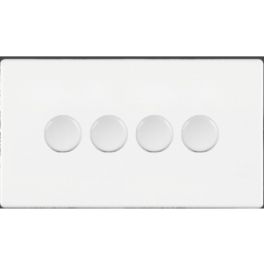 Hamilton 7WC4X100LEDWH 100W Dimmer Switch, 4 Gang LED White