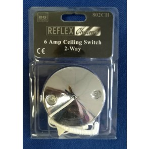 BG Electrical 802CH Ceiling Switch, Decorative 2 Way