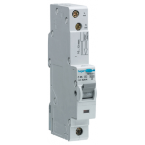 Hager ADC132, RCBO, SP Type C, 1 Module, Size: 32A 30mA 10kA