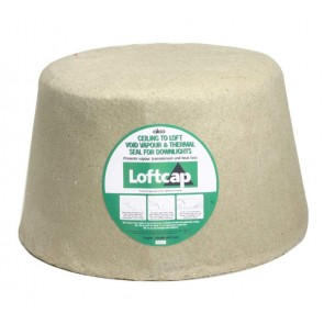 Aico ALC274 Loftcap - reduces fire risk by keeping combustibles away from the hot downlight.