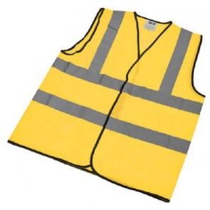 AV13100 Vest, Hi-Vis Hook & Loop Fastening, Size: XL Size 10