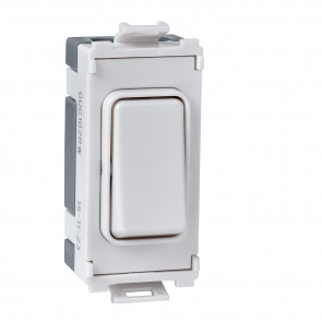 Schneider GUG20DPWDYW Ultimate Grid 1 Gang 2 Pole Switch Module in White (Washer/Dryer) - Buy online from Sparkshop