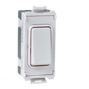 Schneider Ultimate GUG20DPWDW 2 Pole 1 Gang Grid System Switch Module (Waste Disposal) - Buy online from Sparkshop